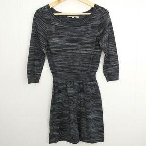 LOFT Lightweight Wool Blend Striped Mini Dress SzS